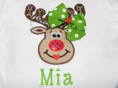 NEW ITEM! Personalized Reindeer Shirt by 1StopEmbroideryShop on Etsy, $24.95