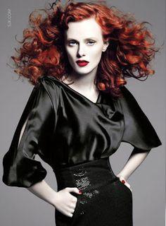 Karen Elson fashion editorial
