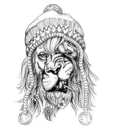 Lion Tattoo- Hipster Black Lion Tattoo Hipster Black Lion Tattoo – - Black Lion Tattoo- Hipster Black Lion Tattoo Hipster Black Lion Tattoo – - Design Temporary tattoo of a hipster lion with a bonnet and flowers in his Tattoo Drawings, Body Art Tattoos, Sleeve Tattoos, Leo Tattoos, Tattoos Of Lions, Rasta Tattoo, Simple Lion Tattoo, Lion Flower, Hipster Tattoo