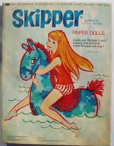 Paper Dolls - Skipper, Barbie's little sister -1965-pre-cut, never used #Dolls