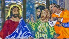 Michigan woman recreates the Last Supper with lint from her dryer.