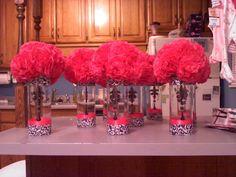 Wedding • Party • Table Centerpiece • Flower • Vase • Pretty • Pink •