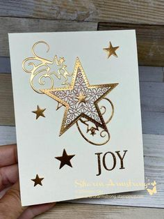 A Star Bright Christmas Card You'll Love to Make - TX Stampin' Sharon - - I'm bringing you a star bright Christmas card you'll love to make! This Christmas card idea will WOW your recipient for sure. Check out the video! Simple Christmas Cards, Homemade Christmas Cards, Stampin Up Christmas, Christmas Greeting Cards, Christmas Greetings, Homemade Cards, Handmade Christmas, Holiday Cards, Christmas Diy