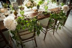 Chairs of the bride and groom -- At the wedding of Jack Leslie and Caroline Pech in Southport, CT
