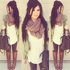 super cute & cozy look