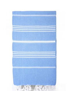 Loomed in the worlds finest textile region, this Turkish bath towel is both…