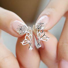 21a6b11ec #butterfly#stud earring#summer Diamond Earrings, Stud Earrings, Buy Metal,