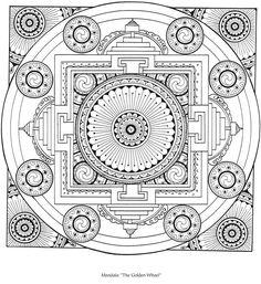 Dover - Tibetan Designs Coloring Book