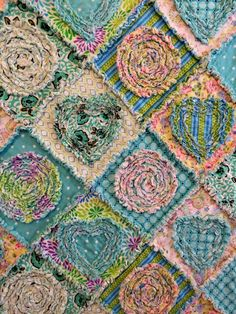 Rag Quilt PATTERN-TUTORIAL Diamonds in the Rough by itssewsally