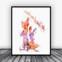 ZootopiaQuote Watercolor Art Print Poster. This eye-catching image doesn't need much light to stand out in the room and gives you the opportunity to bring uniq