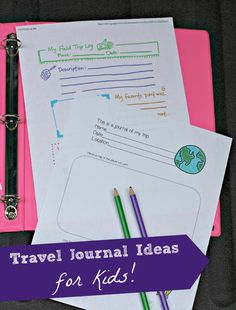 Awesome resources for your next vacation and a great way to get kids writing on the trip!