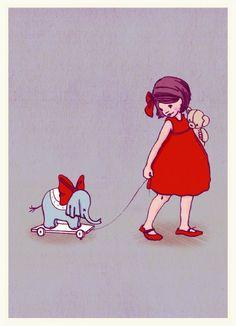 Belle & Boo ansichtkaart Elephant