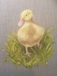 Spring Duckling. Oil on canvas board 2016