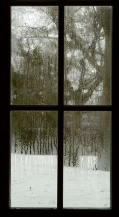 Window - I was hoping for blue skies, instead I got rain on snow.