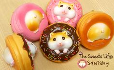 Introducing the Hamee Original The Sweets Life series squishies! Fall in love with our Hamster Donu...