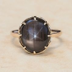 Antique 1930's 14k Yellow Gold Black Star by SITFineJewelry, $850.00