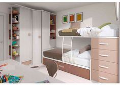 Habitación con 2 camas totalmente amueblada