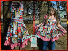 Sweetheart Retro I Love Lucy Apron by AlmostAsSweet on Etsy