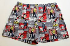 Star Trek Boxer Shorts Mens Cotton Boxers Mens by SewnWithPassion