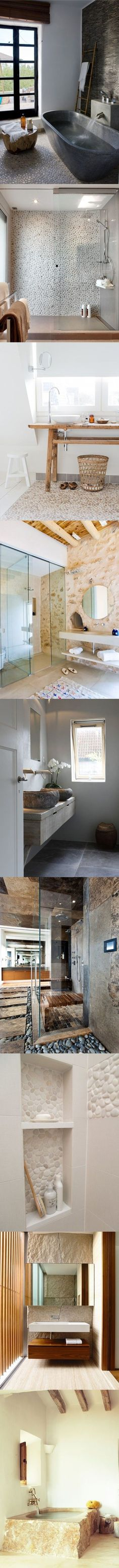 Baños de piedra / http://www.estiloydeco.com/