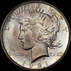 Larry Shapiro Rare Coins LSRC, has thie item on Collectors Corner - 1921 $1 Peace MS66 PCGS