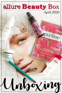 Hi, guys, I'm here with the Allure Beauty Box unboxing for April It was stuffed full of products from Viktor Allure Beauty, The Allure, Eva Nyc, Dr Jart, Rose Perfume, Beauty Box Subscriptions, Viktor Rolf, Discount Codes, Lip Liner