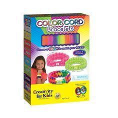 Creativity for Kids Color Cord Bracelets Kit, Multicolor