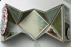 Splitcoaststampers - Tutorials-Diamond Fold Card