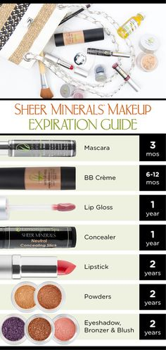 Sheer Minerals 2016 ReSOLUTIONS: expiration, cleaning and organization tips for your Sheer Minerals Makeup