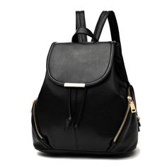 ffe5c47f6 Casual Purse Fashion School Leather Backpack Shoulder Bag Mini Backpack for  Women & Girls - Black2 - CO12LQO065T