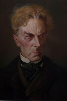 """Daniel Horne created this incredible portrait of Ernest Thesiger as Dr. Pretorius from """"Bride of Frankenstein""""."""