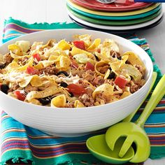 Crowd-Pleasing Taco Salad Recipe -While this recipe might sound involved, it can be fixed in just 30 minutes. It's a hit at the potluck table—and I don't have to bring any home after the shindig! —Ann Cahoon, Bradenton, Florida