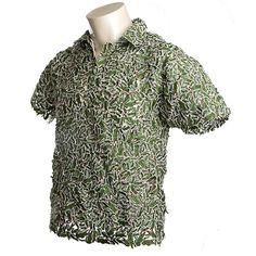 ad26bbf43d04 Lacoste shirt made entirely from the company s aligator logos designed by  Fernando and Humberto Campana