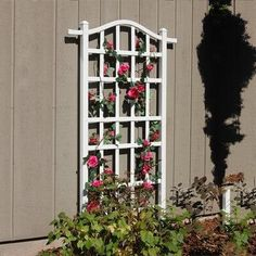 Dura-Trel Blend traditional and exotic motifs in your yard using the Dura-Trel Melrose Trellis. This structure accents your favorite climbing plants while lending a fresh look to your yard. A rectangu Arbors Trellis, Garden Trellis, Plant Trellis, Flower Trellis, Trellis Panels, Garden Fences, Trellis Ideas, Vinyl Lattice Panels, New England Arbors