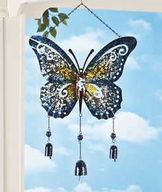 Giant Metal Butterfly Wind Chimes for Kathy!