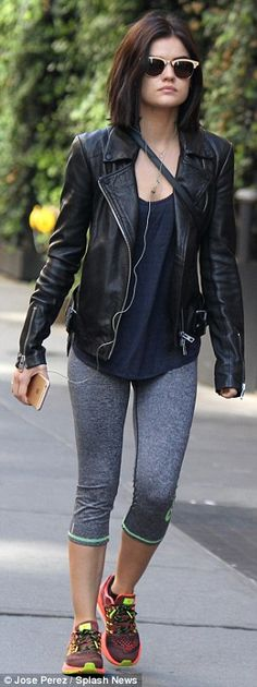 Chic co-stars: Lucy Hale, left, and Ashley Benson, right, were seen stylishly strolling ar...
