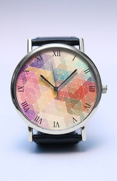 Geometric Abstract Handmade Watch Abstract Art by LovuTimepieces