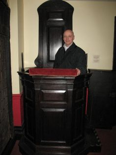 John Bunyan's pulpit from his Bedford church is still kept in the church today, called the Bunyan Meeting Free Church
