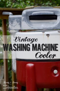 Turning A Vintage Washing Machine Into an outdoor Cooler for drinks, it's fun for backyard bbq's and parties