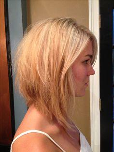 Cute long bob haircut #copperheadsalon #hairbychristinakelly