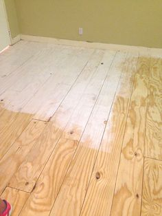 Wide-Plank Floors (Made from Plywood DIY Wide-Plank Floors (Made from Plywood!) - Little Green NotebookDIY Wide-Plank Floors (Made from Plywood!) - Little Green Notebook Painted Plywood Floors, Plywood Plank Flooring, Diy Wood Floors, White Wood Floors, Diy Flooring, Wood Planks, Plywood Furniture, Hardwood Floors, Furniture Design