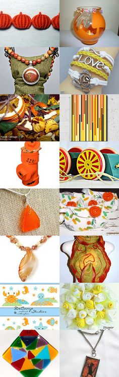 Celebrating Autumn Colours by Isobel Morrell on Etsy--Pinned with TreasuryPin.com