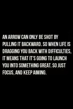 Just focus and keep aiming..