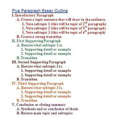 elementary research paper outline template   Outline Format   DOC SlideShare