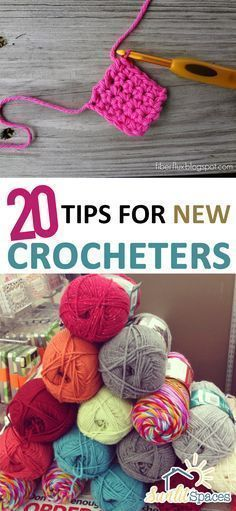 20 Tips For New Crocheters || THESE ARE EXCELLENT TIPS, WITH TUTORIALS AND/OR VIDEOS TO GO ALONG! ♥A