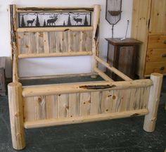 71 Best Log Beds Images Log Bed Frame Log Homes Rustic Bed