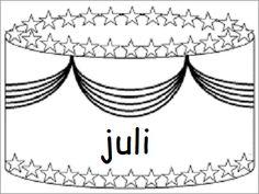 Verjaardagskalender (taart): juli