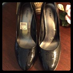 Black Platform Pumps Black platform pumps with 3 1/2 inch heels in excellent condition. FIONI Clothing Shoes Heels