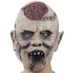 Halloween Masquerade simulation latex horror mask skull grimace brain explosion