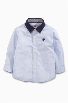 Next Blue Quilted Collar Shirt (3mths-6yrs) £13.50